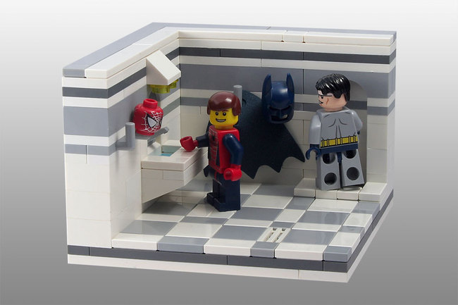 LEGO vignette: How was your day, Spiderman?